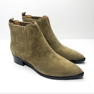 NIB Marc Fisher Yohani Suede Ankle Booties